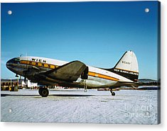 Wien Alaska Airlines Curtiss-wright Cw-20 N1548v Acrylic Print by Wernher Krutein