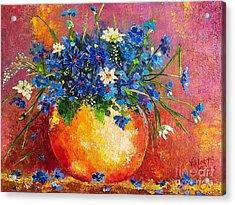 Wild And Blue Acrylic Print by Viktoriya Sirris