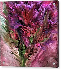 Wild Flower 3 - Organica Acrylic Print by Carol Cavalaris