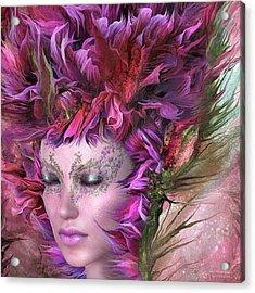 Wild Flower Goddess Acrylic Print by Carol Cavalaris