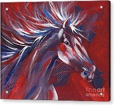 Wild Horse Bust Acrylic Print by Summer Celeste