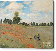 Wild Poppies Near Argenteuil Acrylic Print by Claude Monet