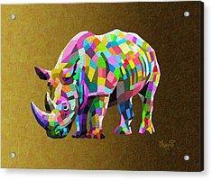 Wild Rainbow Acrylic Print by Anthony Mwangi