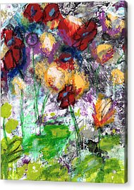 Wildest Flowers- Art By Linda Woods Acrylic Print by Linda Woods