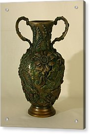 Wildflower Vase Balsamroot Side Acrylic Print by Dawn Senior-Trask