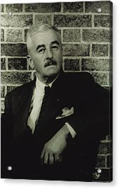 William Faulkner, Portrait By Carl Van Acrylic Print by Everett