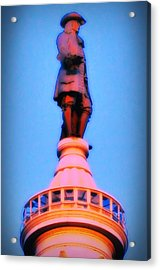 William Penn - City Hall In Philadelphia Acrylic Print by Bill Cannon
