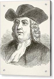 William Penn 1644 To 1718, English Acrylic Print by Vintage Design Pics