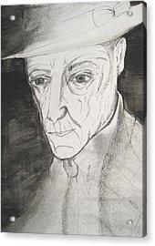 William S. Burroughs Acrylic Print by Darkest Artist