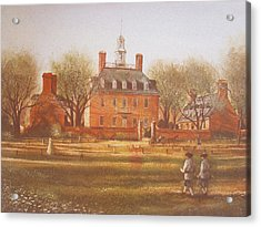 Williamsburg Governors Palace Acrylic Print by Charles Roy Smith
