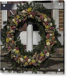 Williamsburg Wreath 31 Acrylic Print by Teresa Mucha