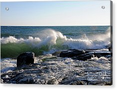 Wind Blown Waves Acrylic Print by Sandra Updyke