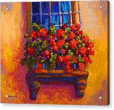 Window Box  Acrylic Print by Marion Rose