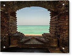 Window On The Gulf Acrylic Print by Kristopher Schoenleber
