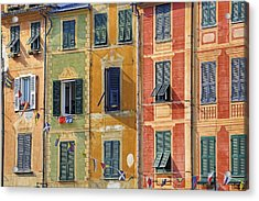 Windows Of Portofino Acrylic Print by Joana Kruse