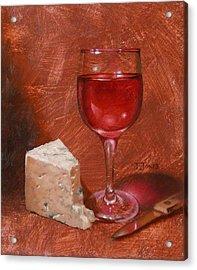 Wine And Stilton Acrylic Print by Timothy Jones