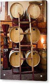 Wine Barrels Acrylic Print by Brian Manfra