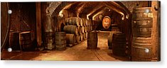 Wine Barrels In A Cellar, Buena Vista Acrylic Print by Panoramic Images