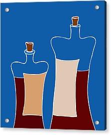 Wine Bottles Acrylic Print by Frank Tschakert