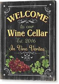 Wine Cellar Sign 1 Acrylic Print by Debbie DeWitt
