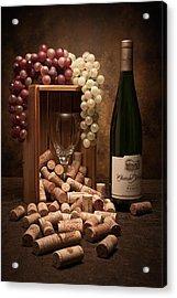 Wine Corks Still Life II Acrylic Print by Tom Mc Nemar