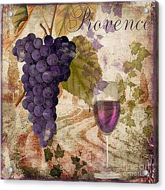 Wine Country Provence Acrylic Print by Mindy Sommers
