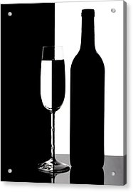 Wine Silhouette Acrylic Print by Tom Mc Nemar