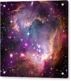 Wing Of The Small Magellanic Cloud Acrylic Print by Mark Kiver