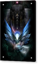 Wings Of Light Fractal Composition Acrylic Print by Xzendor7