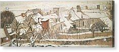 Winter, 1872  Acrylic Print by Camille Pissarro