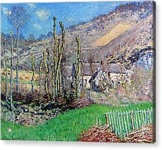 Winter At The Val De Falaise Acrylic Print by Claude Monet