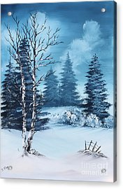 Winter Acrylic Print by Barbara Teller