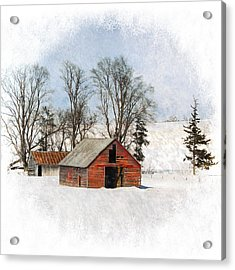 Winter Barn Acrylic Print by Vicki McLead
