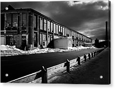 Winter Bates Mill Acrylic Print by Bob Orsillo