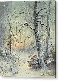 Winter Breakfast Acrylic Print by Joseph Farquharson