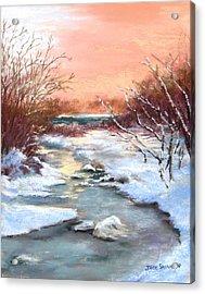Winter Brook Acrylic Print by Jack Skinner