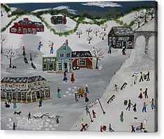 Winter Carnival Acrylic Print by Lee Gray
