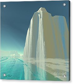 Winter Crystal Acrylic Print by Corey Ford