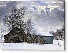 Winter Farm Acrylic Print by Steve Harrington
