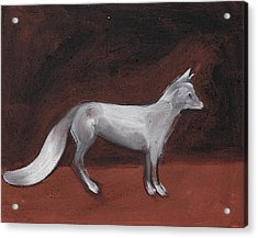 Winter Fox Acrylic Print by Sophy White