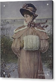 Winter Acrylic Print by George Henry Boughton