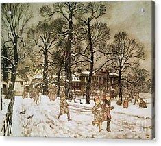 Winter In Kensington Gardens Acrylic Print by Arthur Rackham