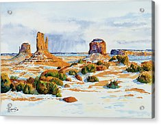 Winter In The Valley Acrylic Print by Timithy L Gordon