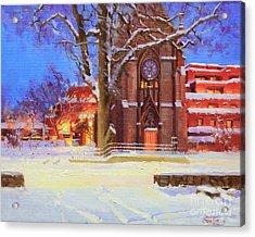 Winter Lorreto Chapel Acrylic Print by Gary Kim