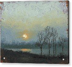 Winter Mist Acrylic Print by Timothy Jones