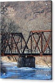 Winter On Knapps Creek Acrylic Print by Randy Bodkins