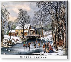 Winter Pastime, 1870 Acrylic Print by Granger