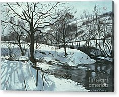 Winter River Acrylic Print by John Cooke