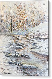 Winter River Acrylic Print by Todd A Blanchard