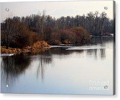 Winter Riverbank Acrylic Print by Carol Groenen